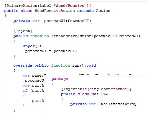 Potomac Framework Metadata Injection Example